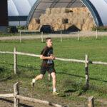 High school student running
