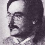 Rudolf Steiner around 1891-92, etching by Otto Fröhlich