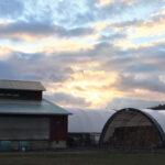 sunset at Hawthorne Valley Farm