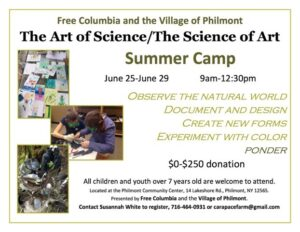 Art and Science summer camp info