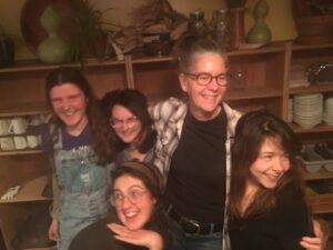 Michele Kowalski and the Children's Program's Fall Interns