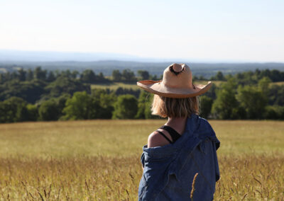 Dawn Breeze, Place Corps co-founder enjoying bucolic view